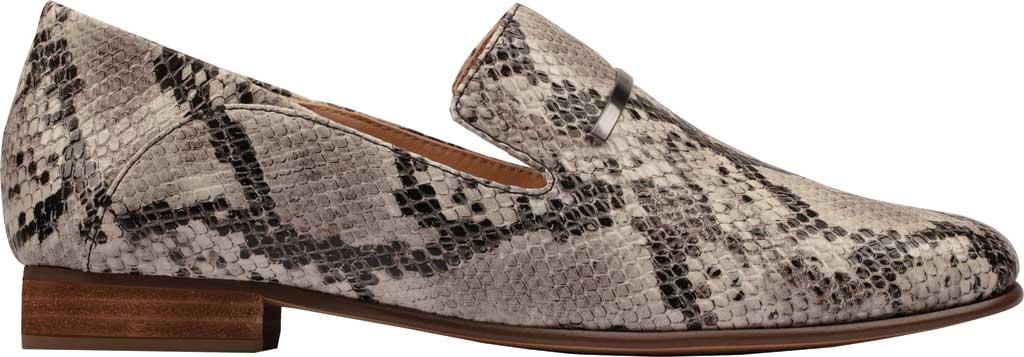 Women's Clarks Pure Viola Trim Loafer, Grey Snake Full Grain Leather, large, image 2