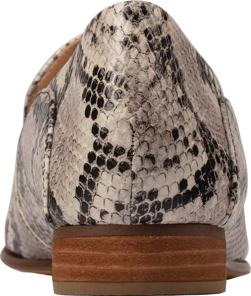 Women's Clarks Pure Viola Trim Loafer, Grey Snake Full Grain Leather, large, image 3