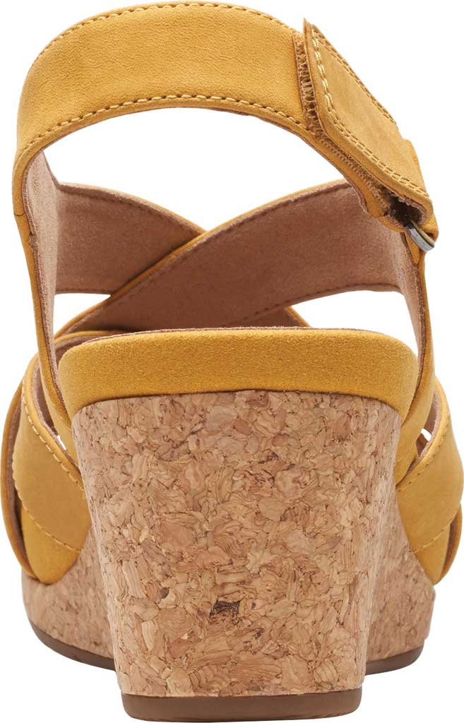 Women's Clarks Un Capri Step Wedge Sandal, Yellow Nubuck, large, image 4