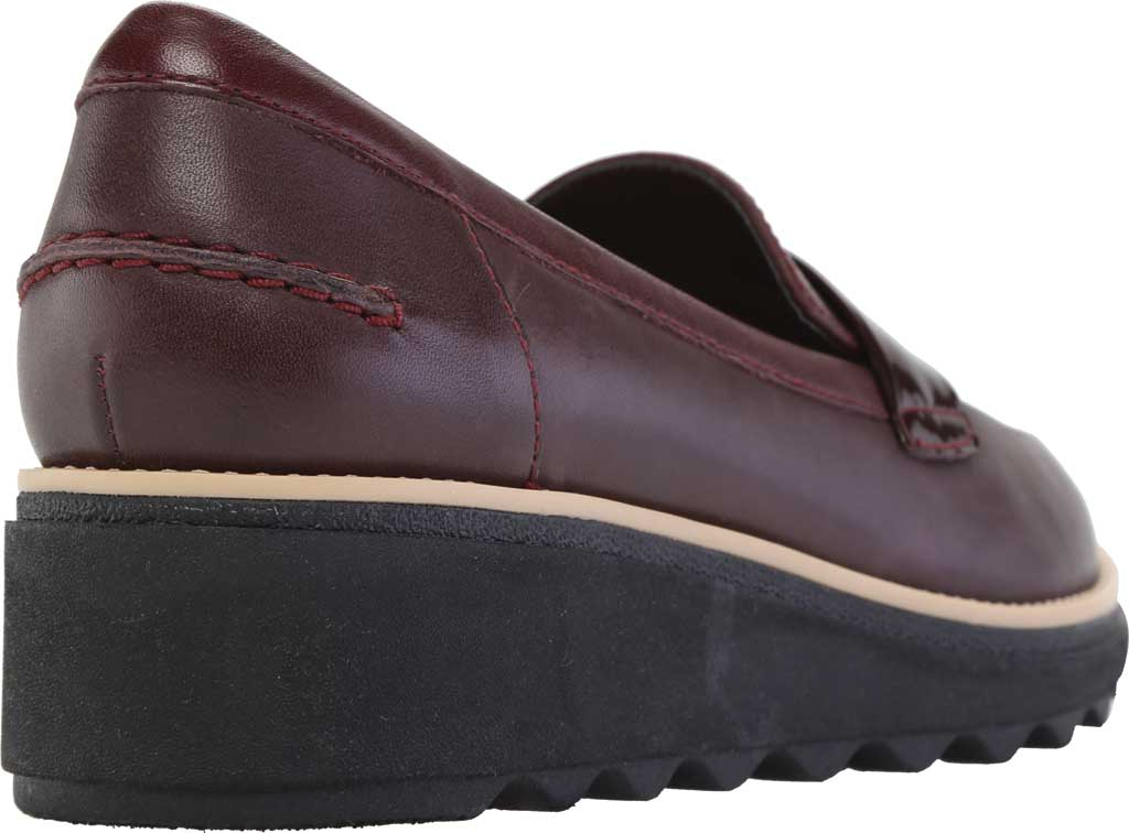 Women's Clarks Sharon Gracie Wedge Loafer, Burgundy Leather, large, image 4