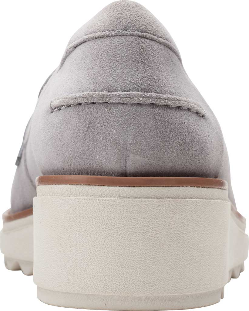 Women's Clarks Sharon Gracie Wedge Loafer, Grey Suede, large, image 4