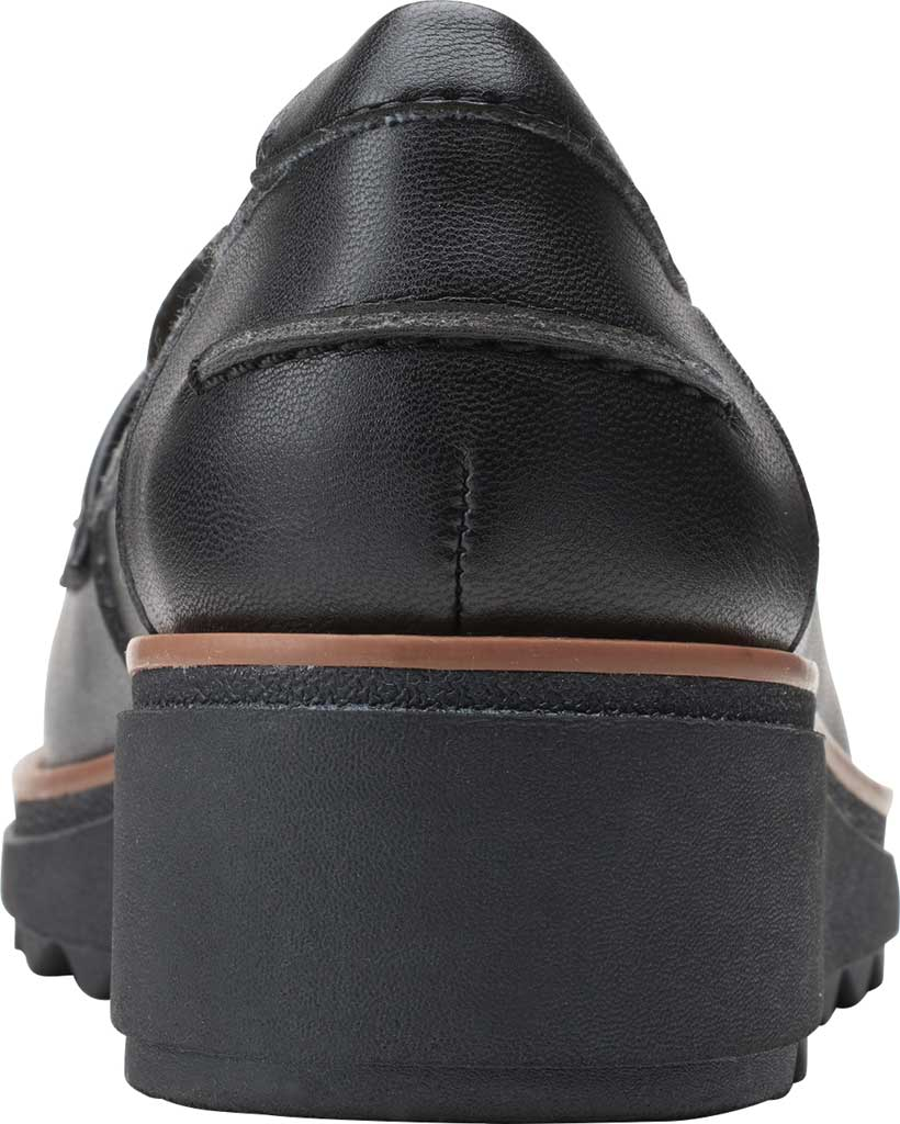 Women's Clarks Sharon Gracie Wedge Loafer, Black Synthetic II, large, image 4