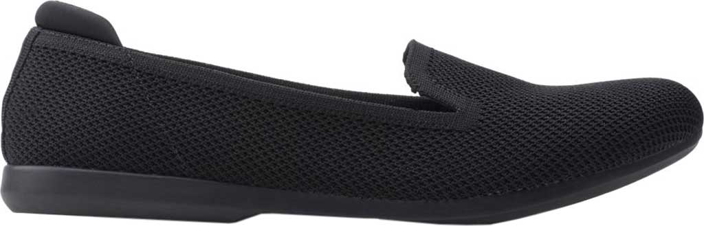 Women's Clarks Carly Dream Knit Loafer, Black Solid Knit, large, image 2