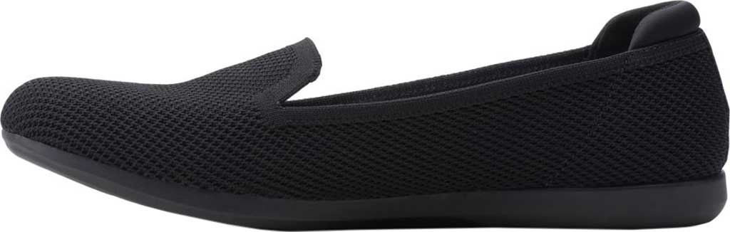 Women's Clarks Carly Dream Knit Loafer, Black Solid Knit, large, image 3