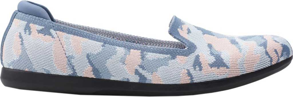 Women's Clarks Carly Dream Knit Loafer, Blue/Pink Camo Knit, large, image 2