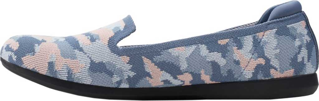 Women's Clarks Carly Dream Knit Loafer, Blue/Pink Camo Knit, large, image 3