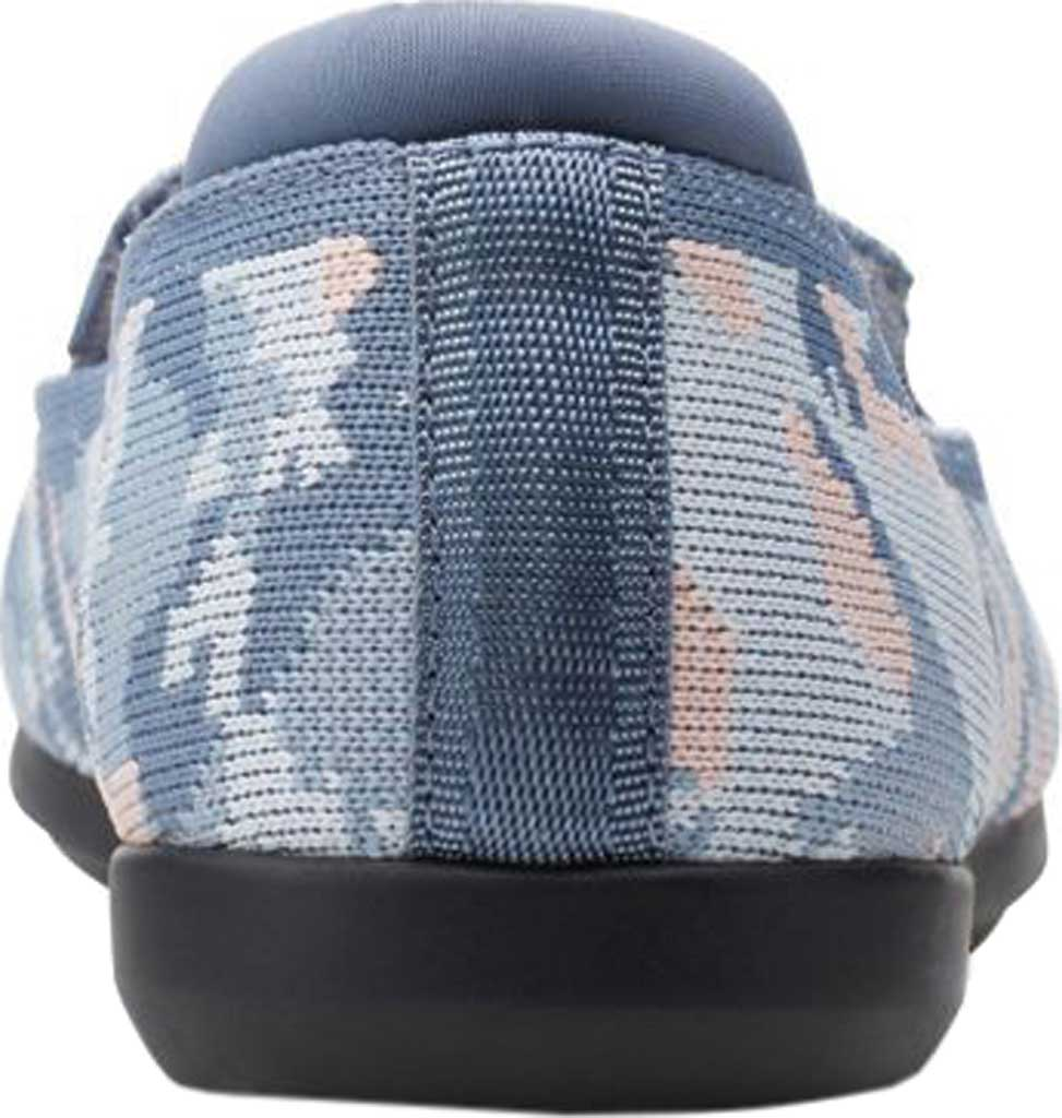 Women's Clarks Carly Dream Knit Loafer, Blue/Pink Camo Knit, large, image 4
