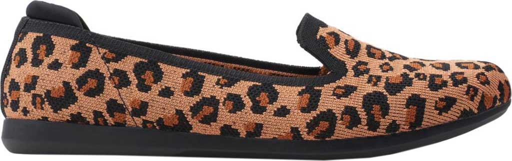 Women's Clarks Carly Dream Knit Loafer, Dark Tan Interest Knit, large, image 2