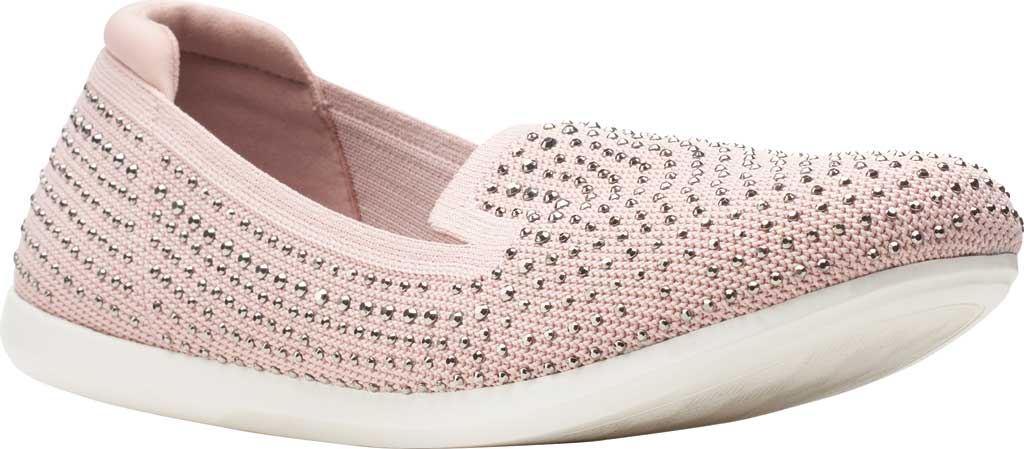 Women's Clarks Carly Dream Knit Loafer, Dusty Pink Knit/Sparkles, large, image 1