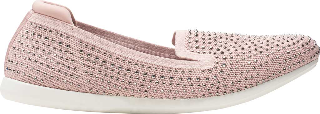 Women's Clarks Carly Dream Knit Loafer, Dusty Pink Knit/Sparkles, large, image 2