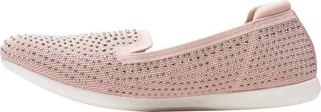 Women's Clarks Carly Dream Knit Loafer, Dusty Pink Knit/Sparkles, large, image 3
