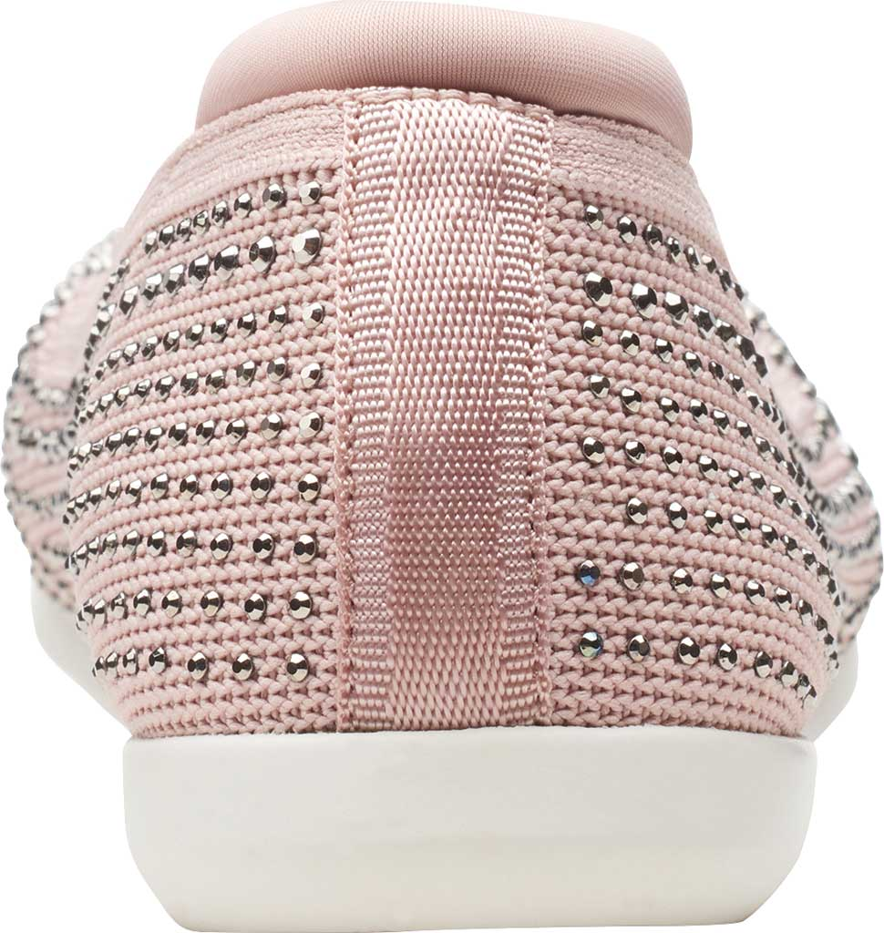 Women's Clarks Carly Dream Knit Loafer, Dusty Pink Knit/Sparkles, large, image 4