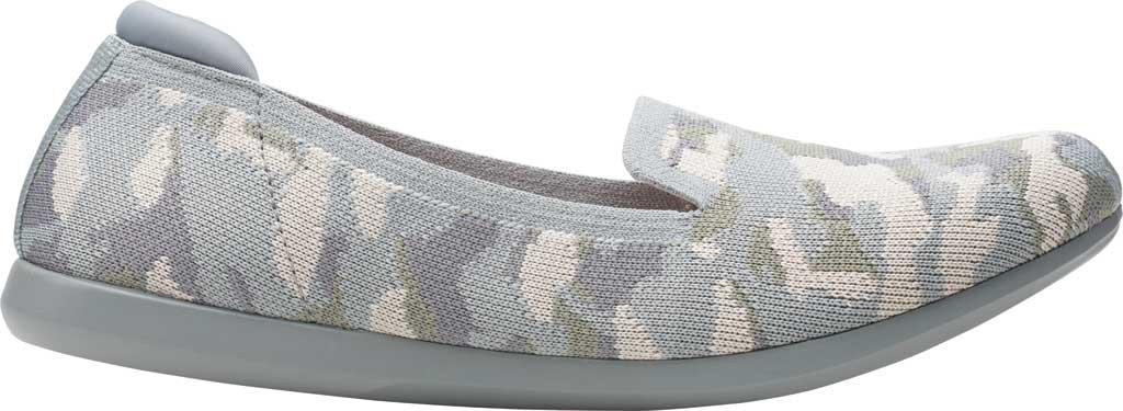 Women's Clarks Carly Dream Knit Loafer, Khaki Camo Knit II, large, image 2