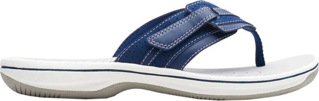 Women's Clarks Brinkley Keely Thong Sandal, Navy Synthetic, large, image 2