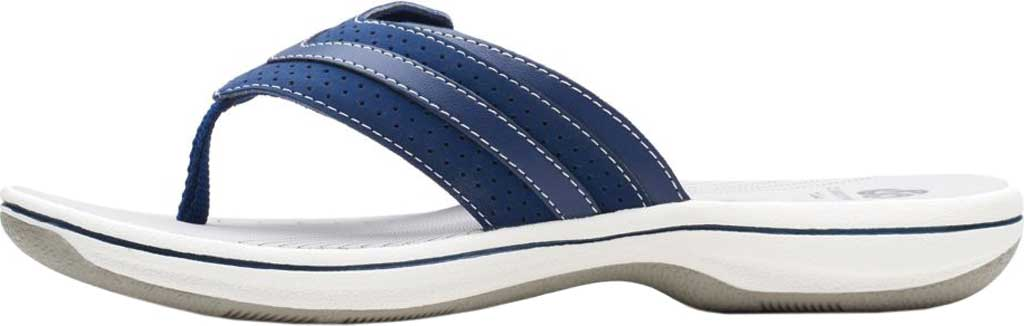 Women's Clarks Brinkley Keely Thong Sandal, Navy Synthetic, large, image 3