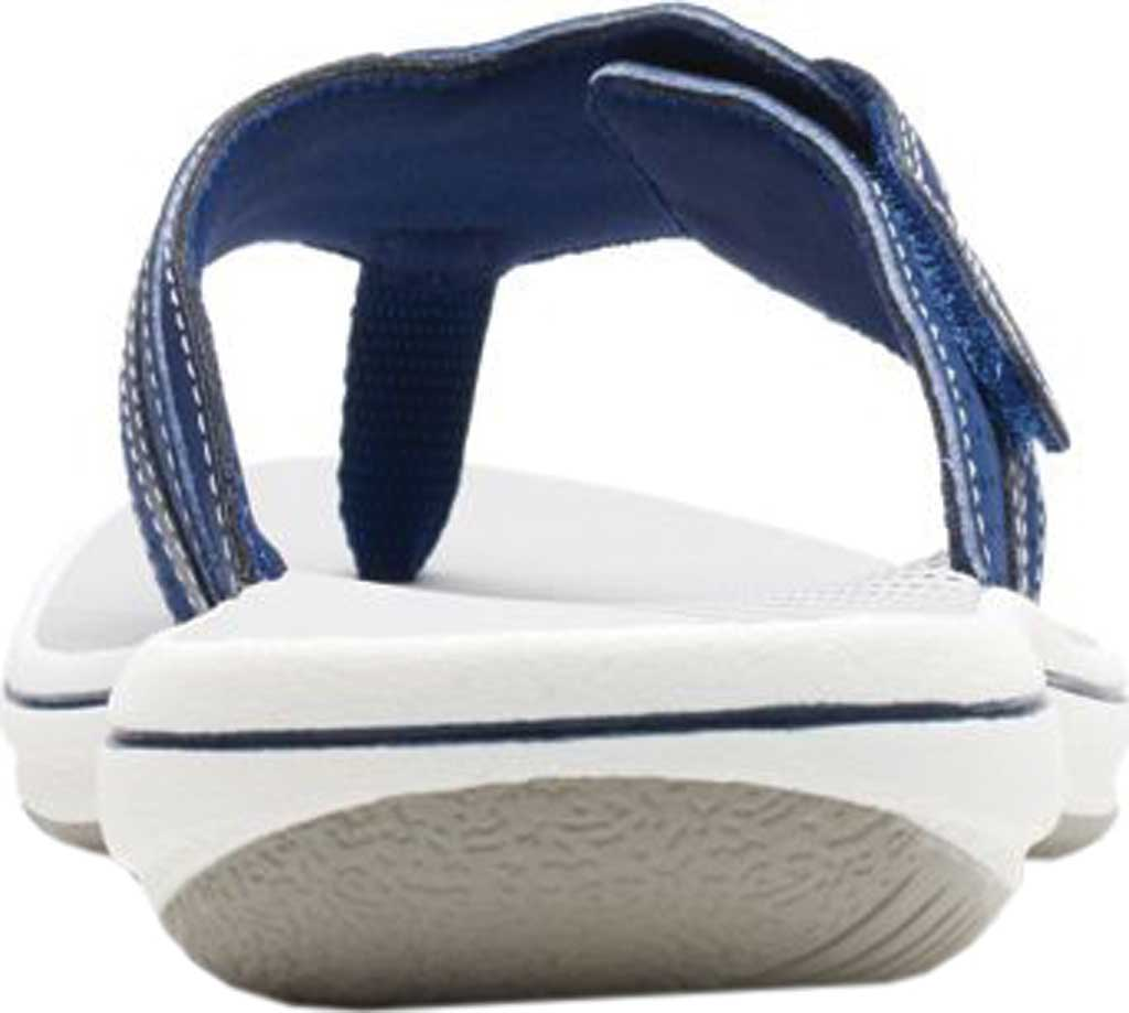Women's Clarks Brinkley Keely Thong Sandal, Navy Synthetic, large, image 4