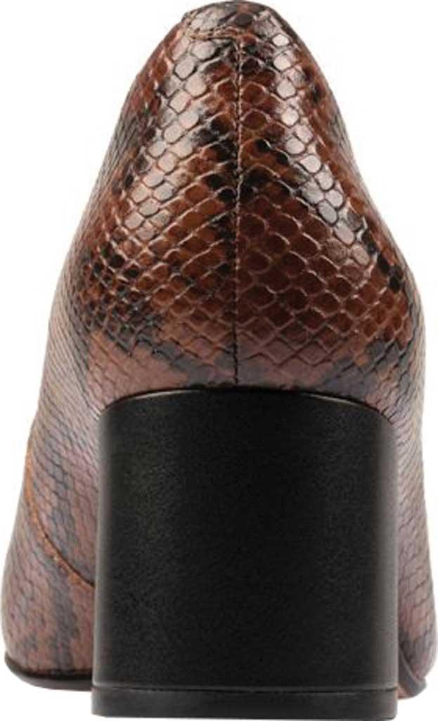 Women's Clarks Sheer Rose 2 Pump, Tan Snake Combi Leather, large, image 4