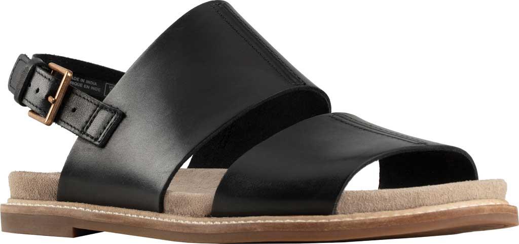 Women's Clarks Corsio Slingback Sandal, Black Leather, large, image 1