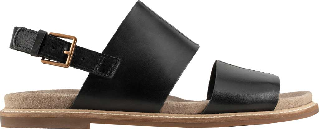 Women's Clarks Corsio Slingback Sandal, Black Leather, large, image 2