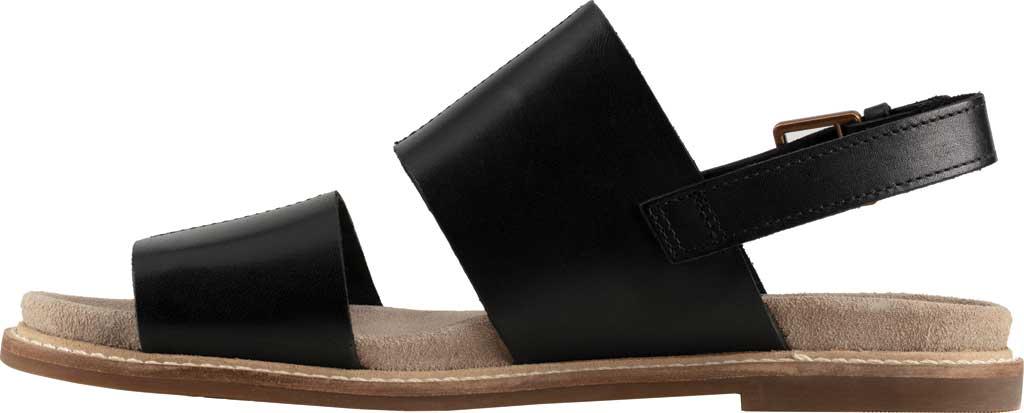 Women's Clarks Corsio Slingback Sandal, Black Leather, large, image 3