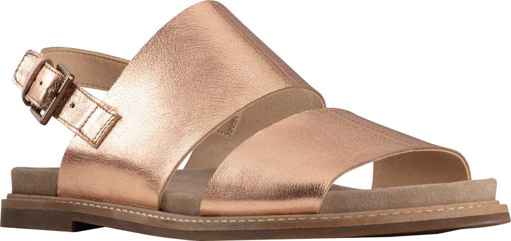 Women's Clarks Corsio Slingback Sandal, Rose Gold Metallic Leather, large, image 1