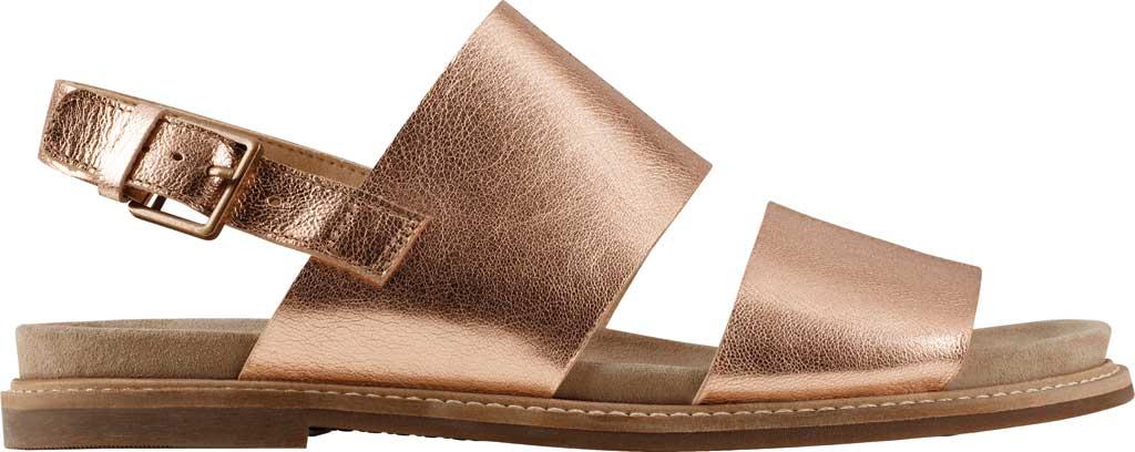 Women's Clarks Corsio Slingback Sandal, Rose Gold Metallic Leather, large, image 2