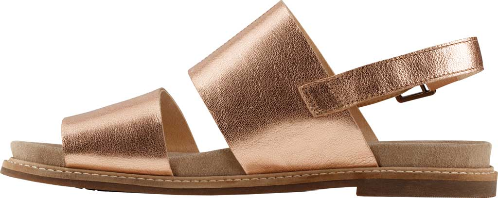 Women's Clarks Corsio Slingback Sandal, Rose Gold Metallic Leather, large, image 3