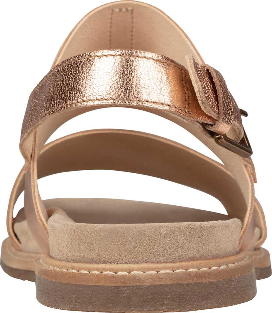 Women's Clarks Corsio Slingback Sandal, Rose Gold Metallic Leather, large, image 4
