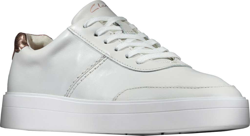 Women's Clarks Hero Walk Sneaker, White Combi Leather, large, image 1