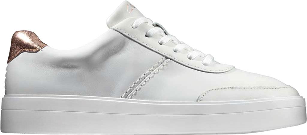 Women's Clarks Hero Walk Sneaker, White Combi Leather, large, image 2