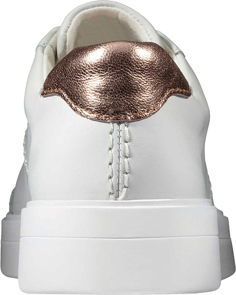Women's Clarks Hero Walk Sneaker, White Combi Leather, large, image 3