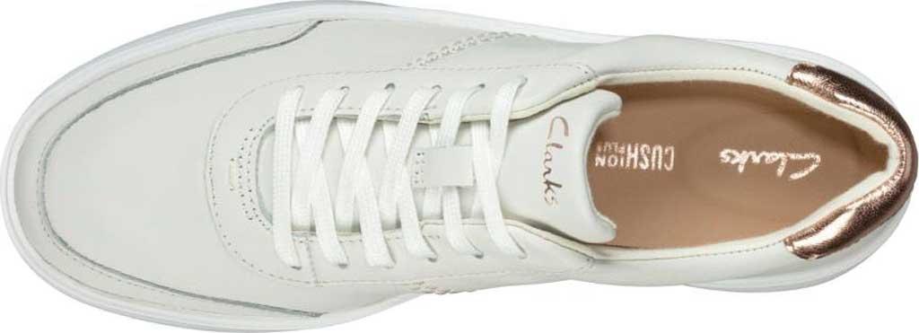 Women's Clarks Hero Walk Sneaker, White Combi Leather, large, image 4