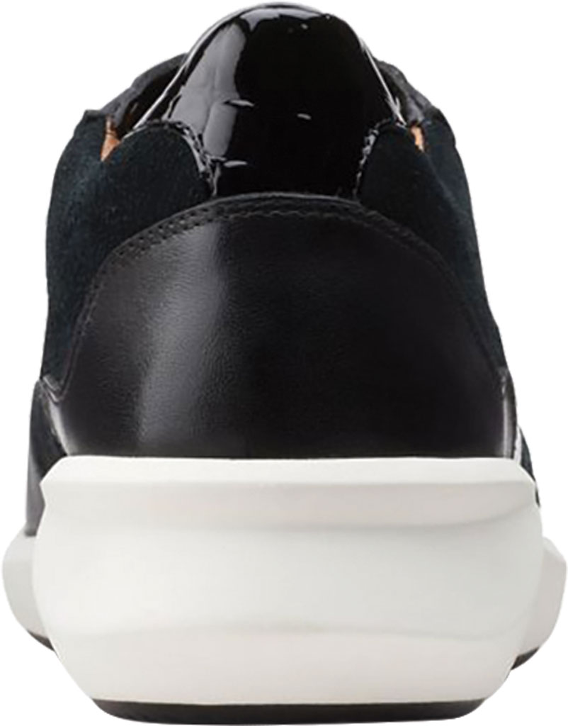 Women's Clarks Un Rio Run Sneaker, Black Nubuck/Leather/Suede, large, image 4