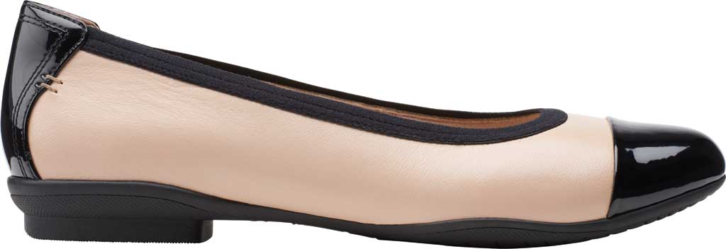 Women's Clarks Sara Orchid Cap Toe Ballet Flat, Blush Leather/Patent, large, image 2