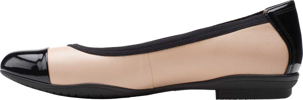 Women's Clarks Sara Orchid Cap Toe Ballet Flat, Blush Leather/Patent, large, image 3