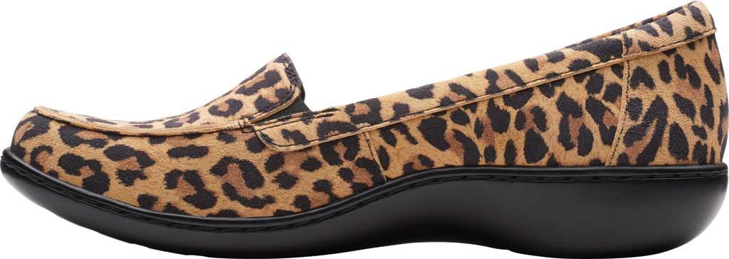Women's Clarks Ashland Jam Loafer, Tan Leopard Suede, large, image 3