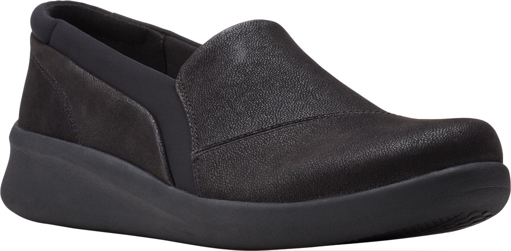 Women's Clarks Sillian 2.0 Eve Sneaker, Black Synthetic, large, image 1