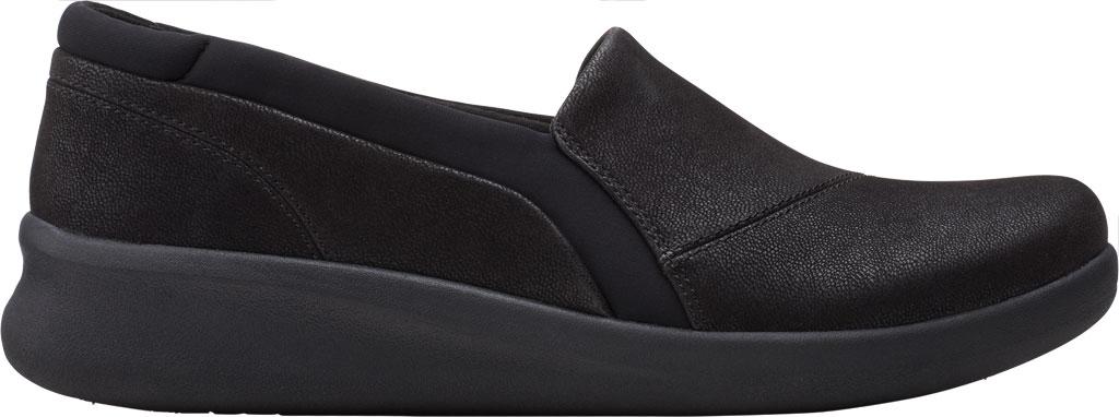 Women's Clarks Sillian 2.0 Eve Sneaker, Black Synthetic, large, image 2