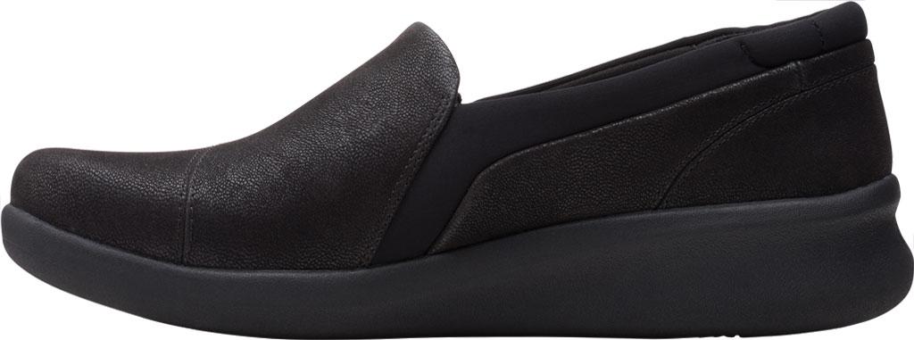 Women's Clarks Sillian 2.0 Eve Sneaker, Black Synthetic, large, image 3