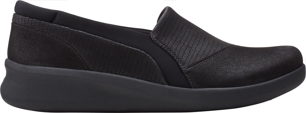 Women's Clarks Sillian 2.0 Eve Sneaker, Black Combi Synthetic, large, image 2