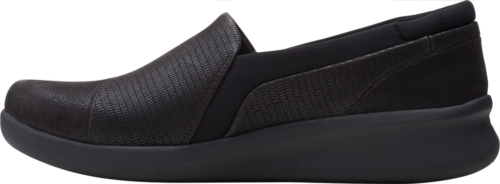 Women's Clarks Sillian 2.0 Eve Sneaker, Black Combi Synthetic, large, image 3
