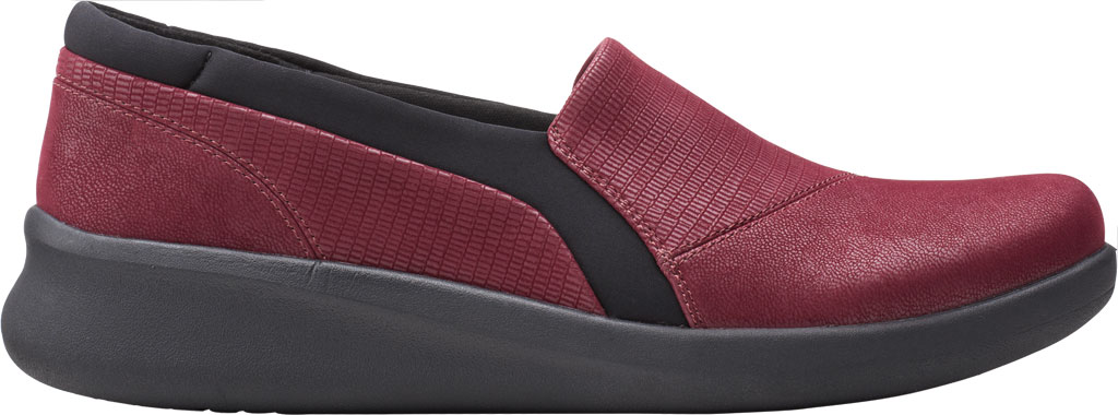 Women's Clarks Sillian 2.0 Eve Sneaker, Burgundy Combi Synthetic, large, image 2