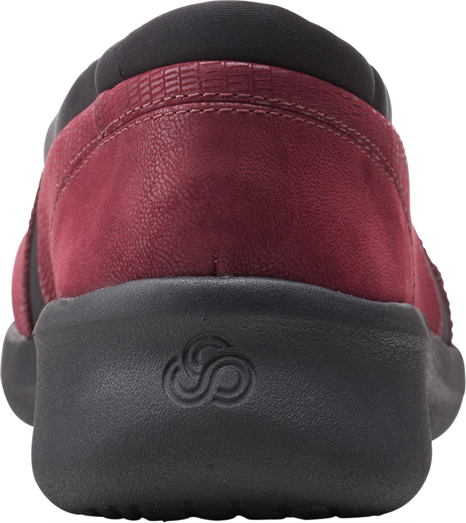 Women's Clarks Sillian 2.0 Eve Sneaker, Burgundy Combi Synthetic, large, image 4