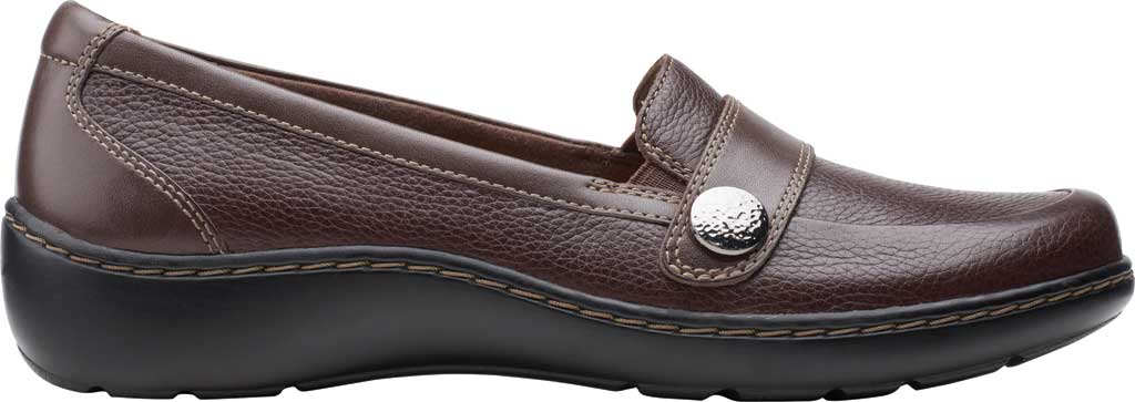 Women's Clarks Cora Daisy Loafer, Dark Brown Tumbled Leather, large, image 2