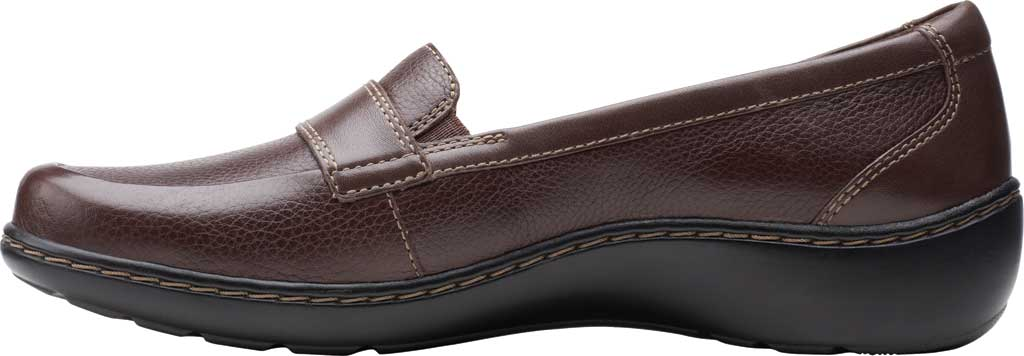Women's Clarks Cora Daisy Loafer, Dark Brown Tumbled Leather, large, image 3