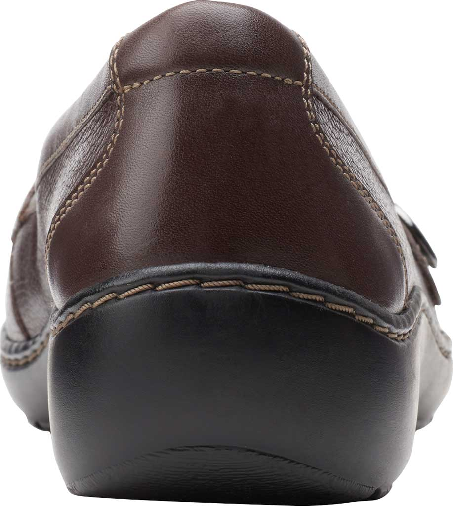 Women's Clarks Cora Daisy Loafer, Dark Brown Tumbled Leather, large, image 4