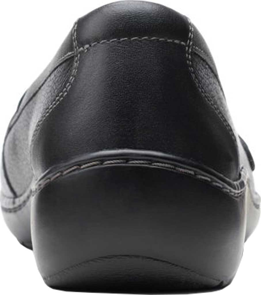 Women's Clarks Cora Daisy Loafer, Black Tumbled Leather, large, image 4