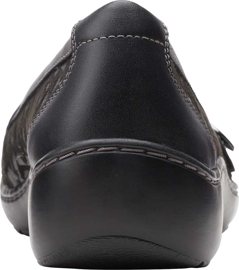Women's Clarks Cora Daisy Loafer, Black Textile/Leather, large, image 4