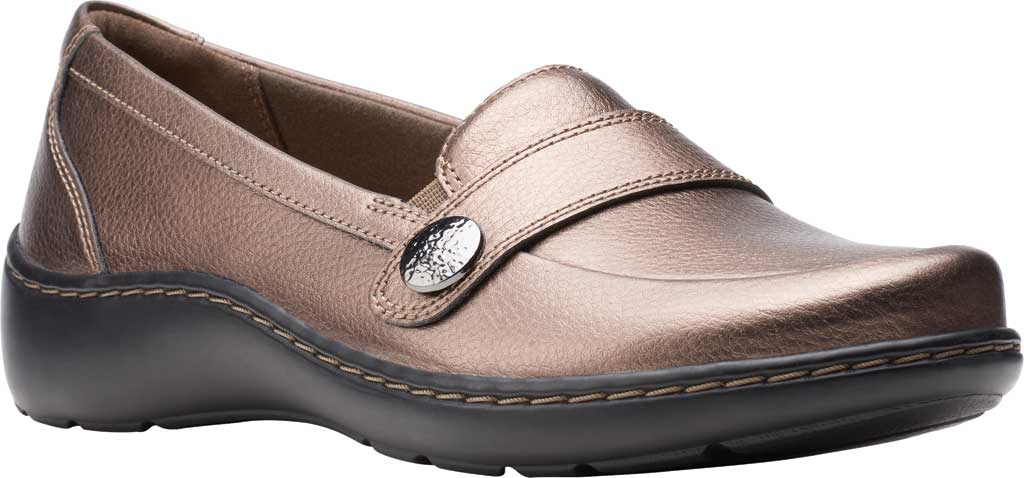 Women's Clarks Cora Daisy Loafer, Bronze Metallic Synthetic, large, image 1
