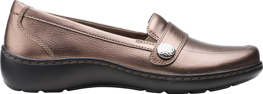 Women's Clarks Cora Daisy Loafer, Bronze Metallic Synthetic, large, image 2